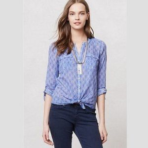 Anthropologie Holding Horses Zellige Button Down 0